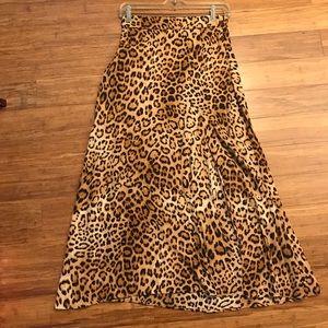 Cheetah Midi Skirt